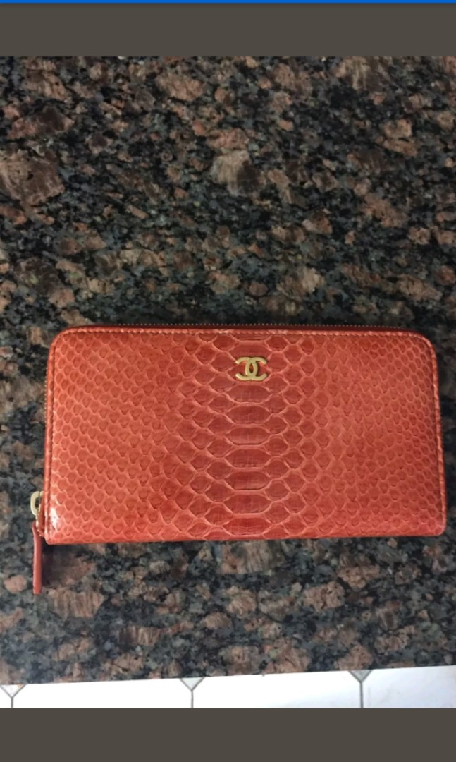 ba770a808cff BN Auth Chanel Python Wallet Limited Ed, Luxury, Bags & Wallets ...