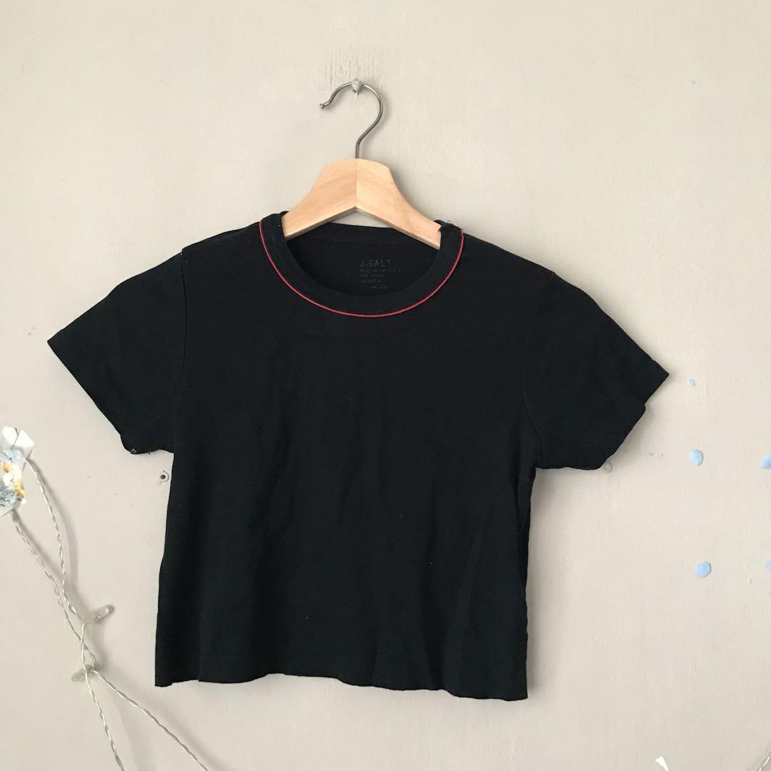 e8650e4cfcf BRANDY MELVILLE black mary crop top, Women's Fashion, Clothes, Tops ...