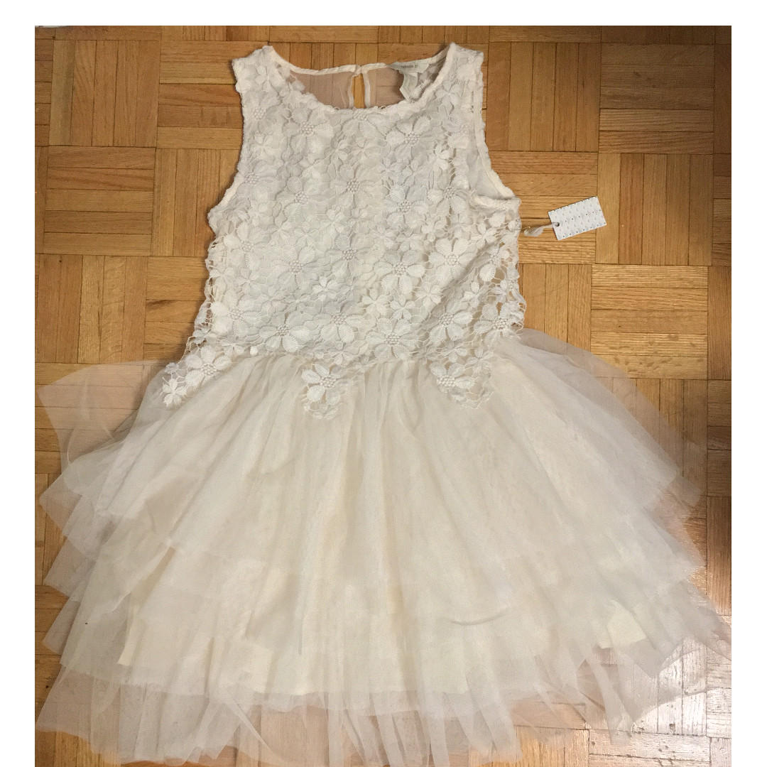 Forever 21 Girl's Youth Cream Lace Tutu Dress - Size 13/14 XL