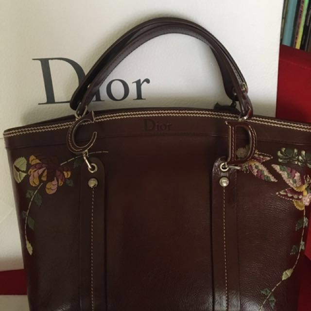 3add194d8b3 Further Reduced: Christian Dior Leather Flower tote bag, Luxury ...