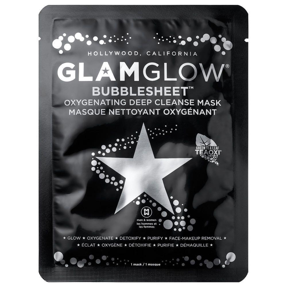 Glam glow bubble sheet oxygenating deep cleansing mask