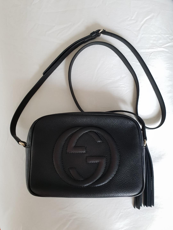 2cbb59cfe0fe Gucci Soho Disco Bag Black, Luxury, Bags & Wallets, Handbags on ...