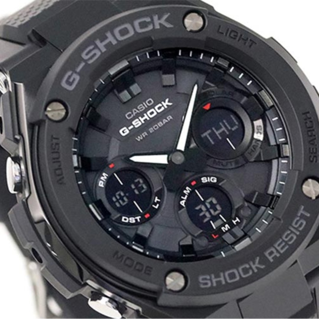 7986f95b3259 IN STOCK 100% Authentic Casio Gshock Gsteel Stealth Black Tough ...