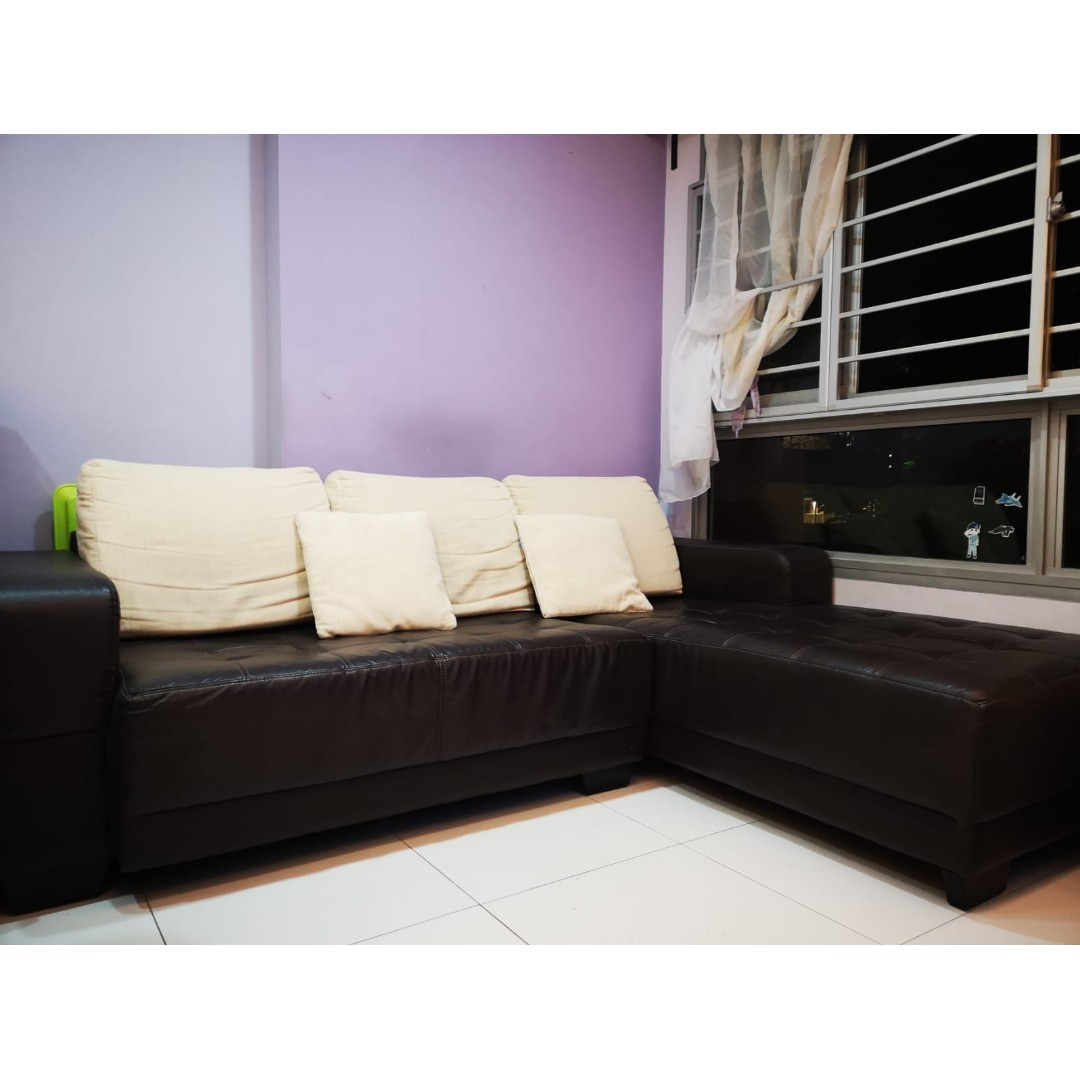 Living Room L Shape Sofa Furniture Sofas On Carousell