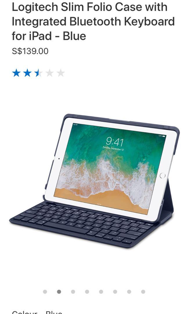 official photos 05987 bbdff Logitech iPad Slim folio case bluetooth keyboard