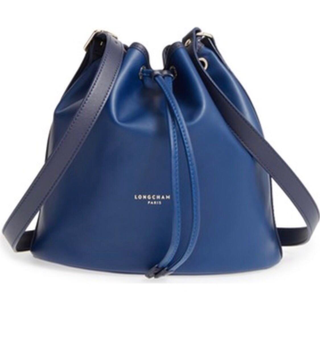 ef4a52df17f72 Longchamp Leather Bucket bag