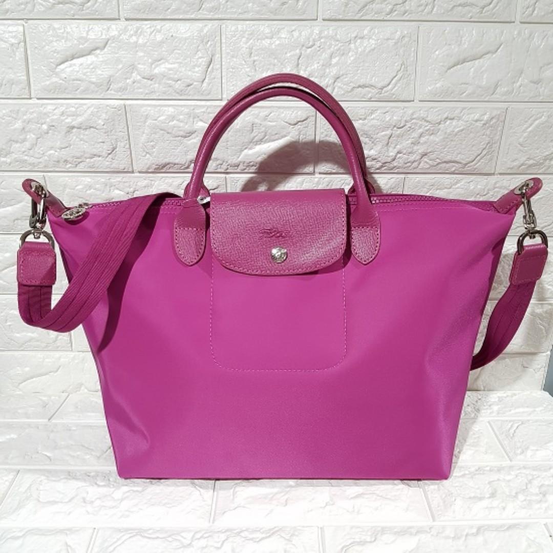 fdb2801de7f3 Longchamp Made In France Neo Medium - Fuschia Pink