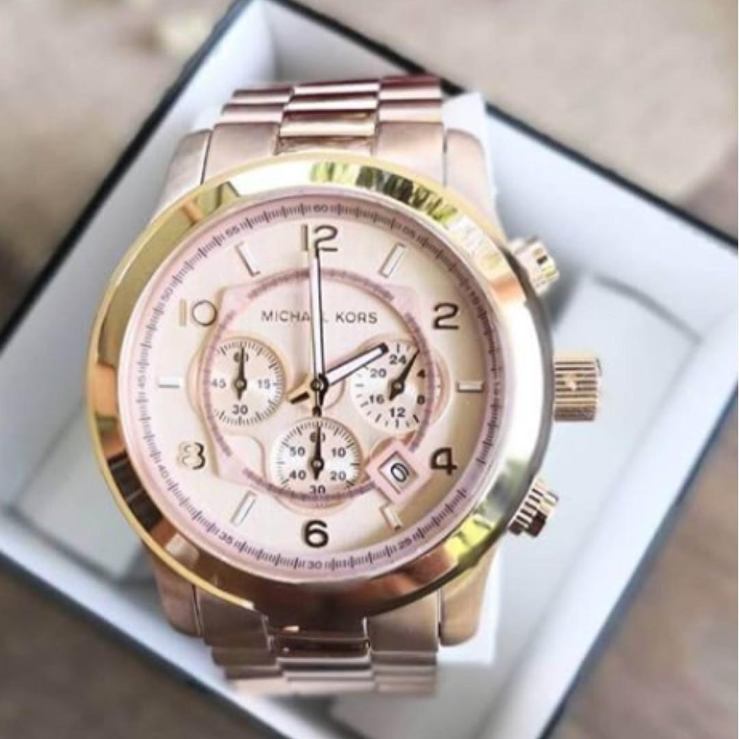 6056f7d5fc4c Michael Kors Runway Chronograph Rose Gold-tone Men s Watch - MK8096 ...
