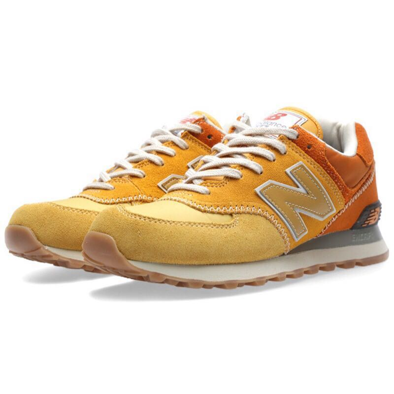 newest 12bda 167e3 New Balance 574 Womens Trainers in Yellow Orange, Women s Fashion, Shoes,  Sneakers on Carousell