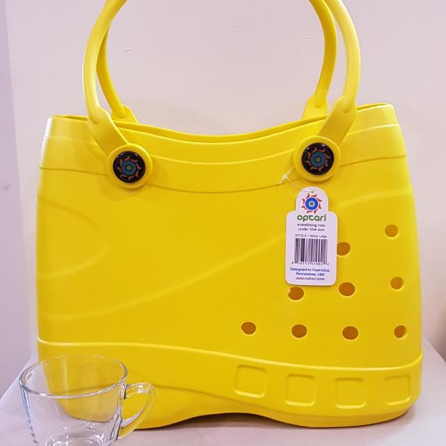 f36a801a1e Optari Sol Large Rubber Tote Bag - Yellow