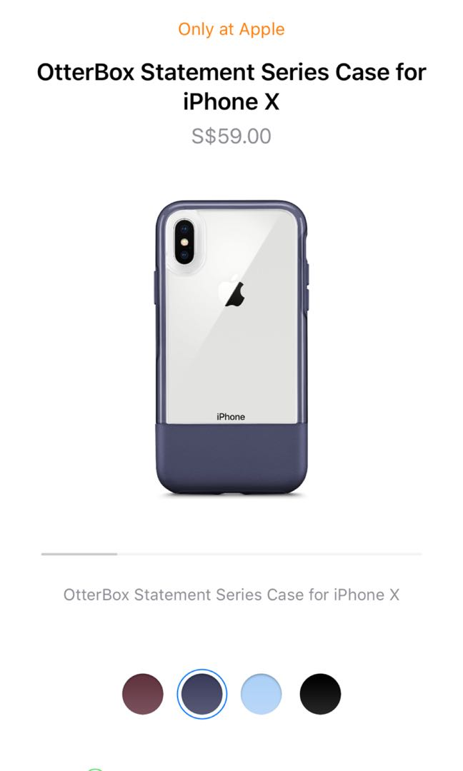 new concept 9fb80 446e5 OtterBox Statement Case for iPhone X