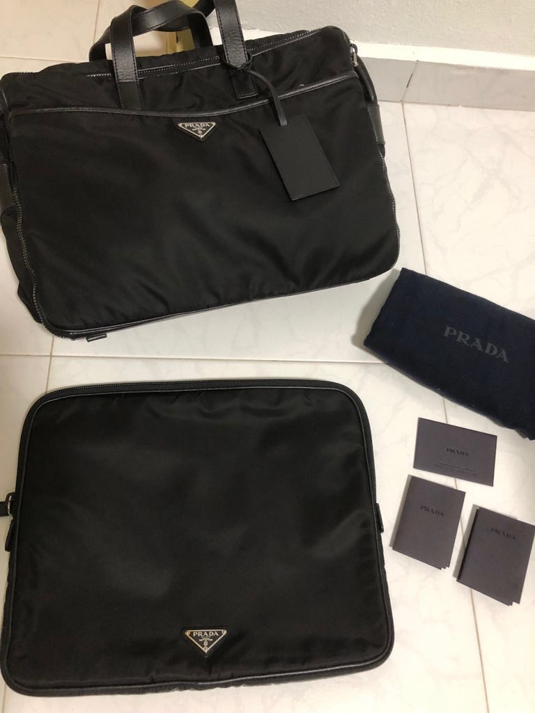 31caad1443f8e7 ... get prada laptop bag mens fashion bags wallets briefcases on carousell  844bb aa924