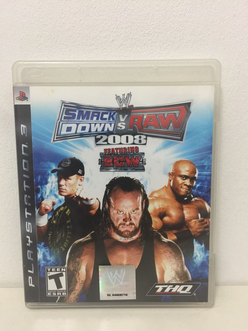 Ps3 GAME WWE SMACKDOWN VS RAW 2008 527167a12b0