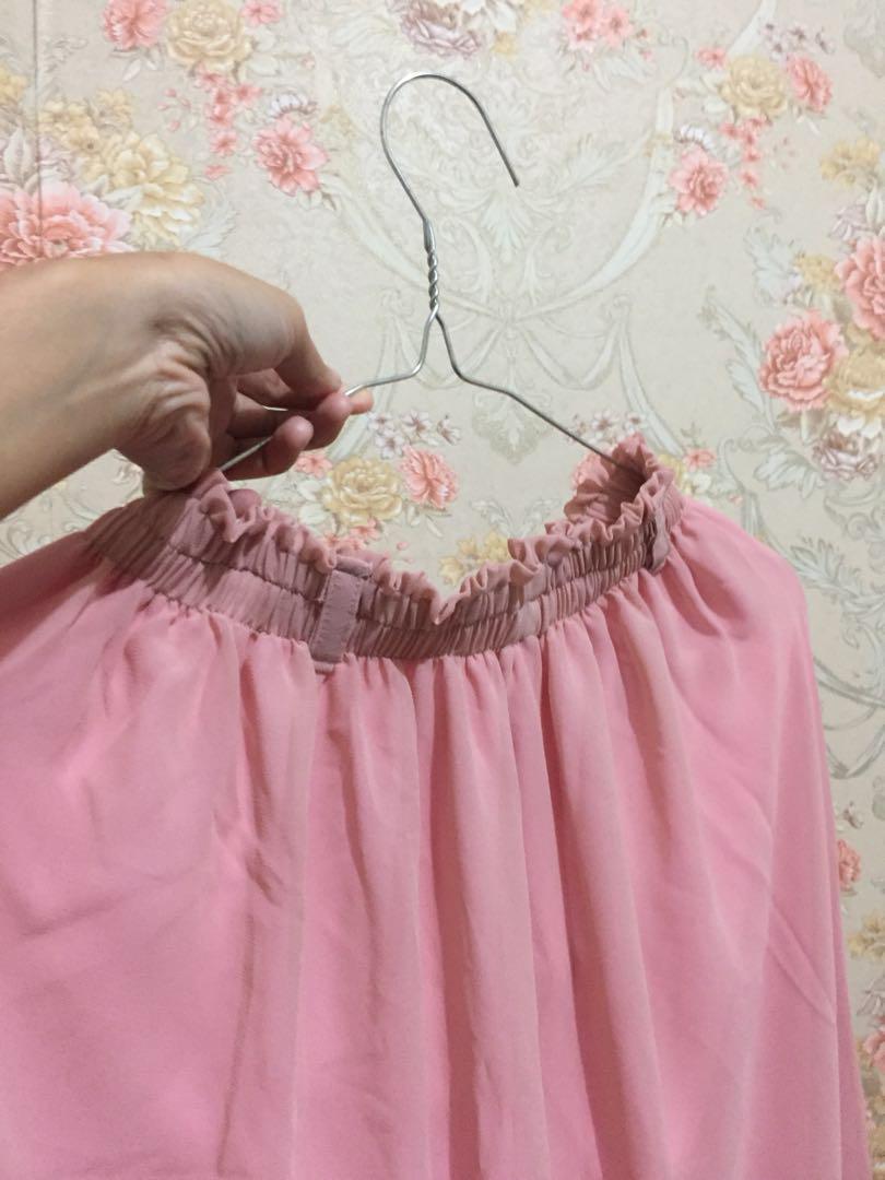 Rok pink panjang 💖