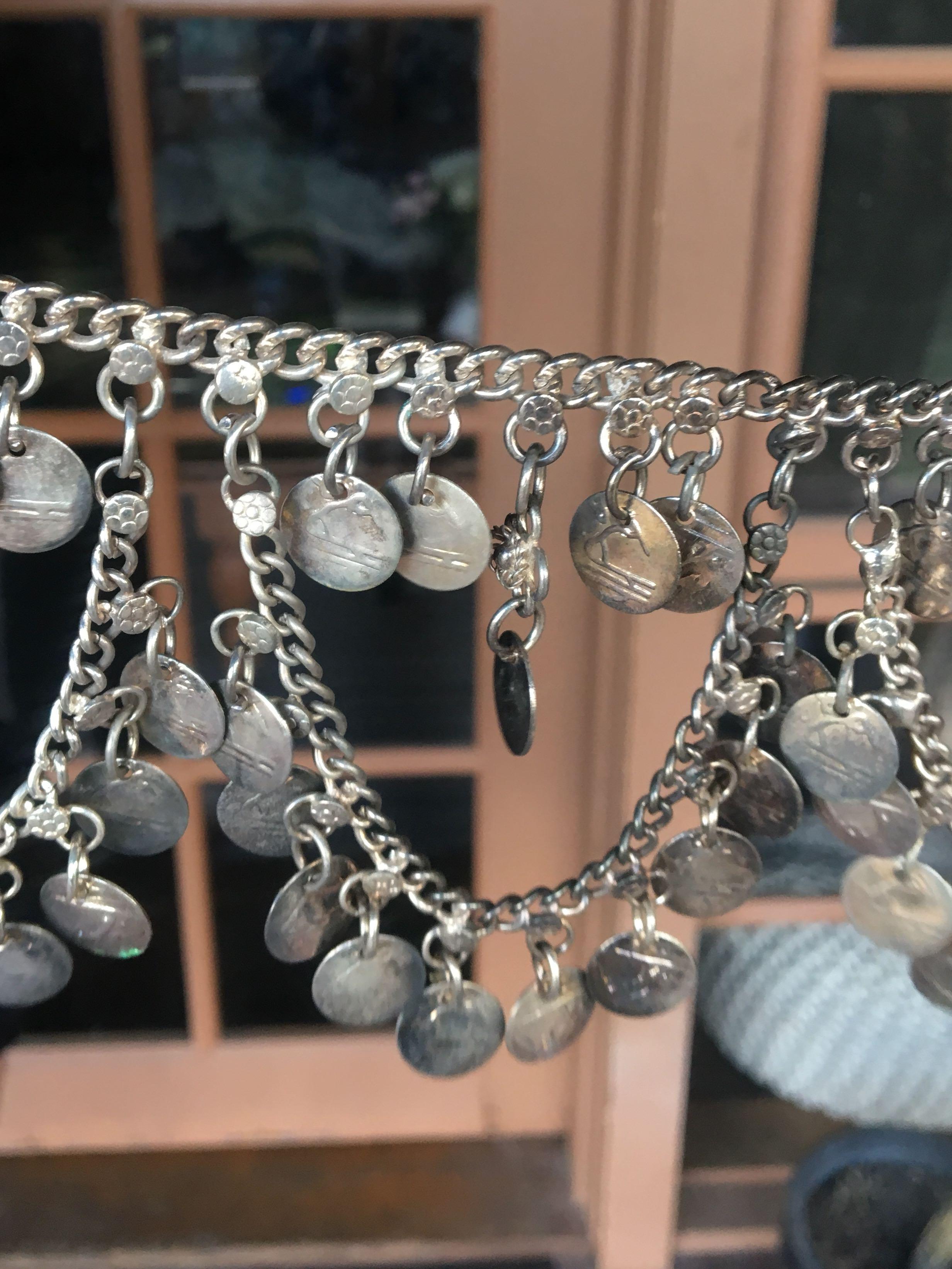 silver festival chain belt