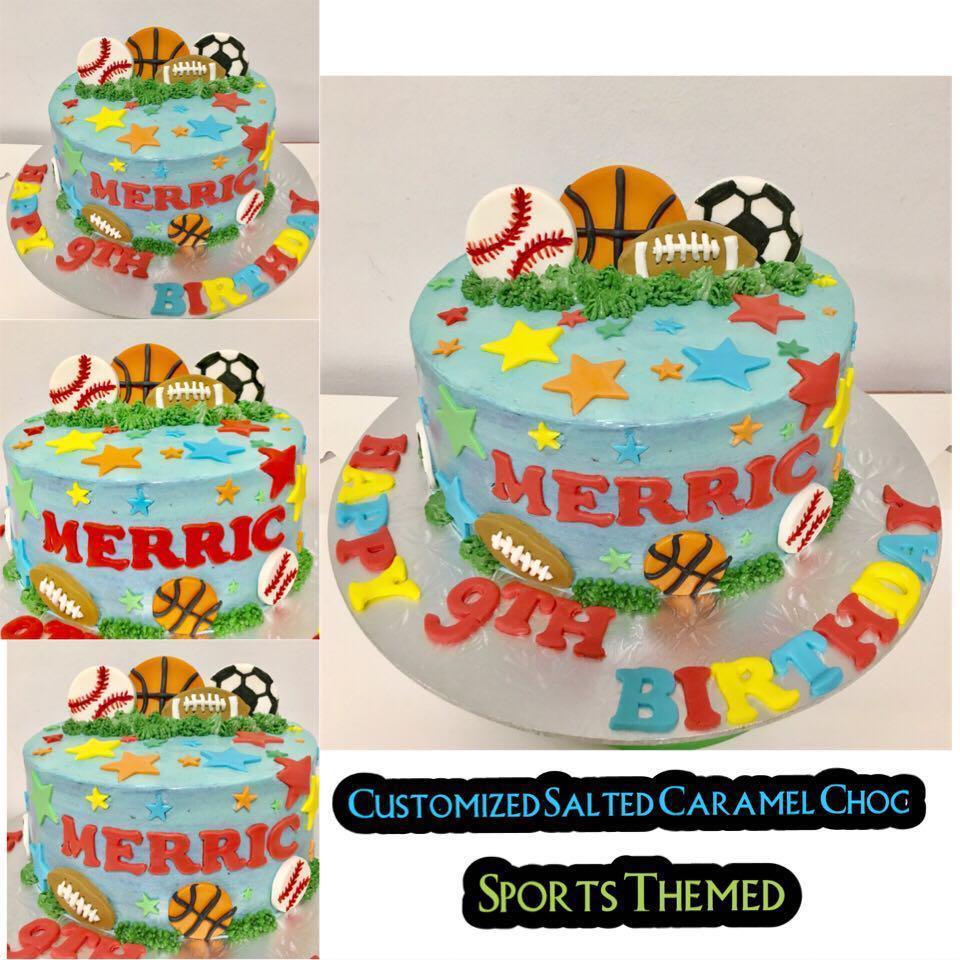 Groovy Sports Themed Birthday Cake Food Drinks Baked Goods On Carousell Birthday Cards Printable Benkemecafe Filternl