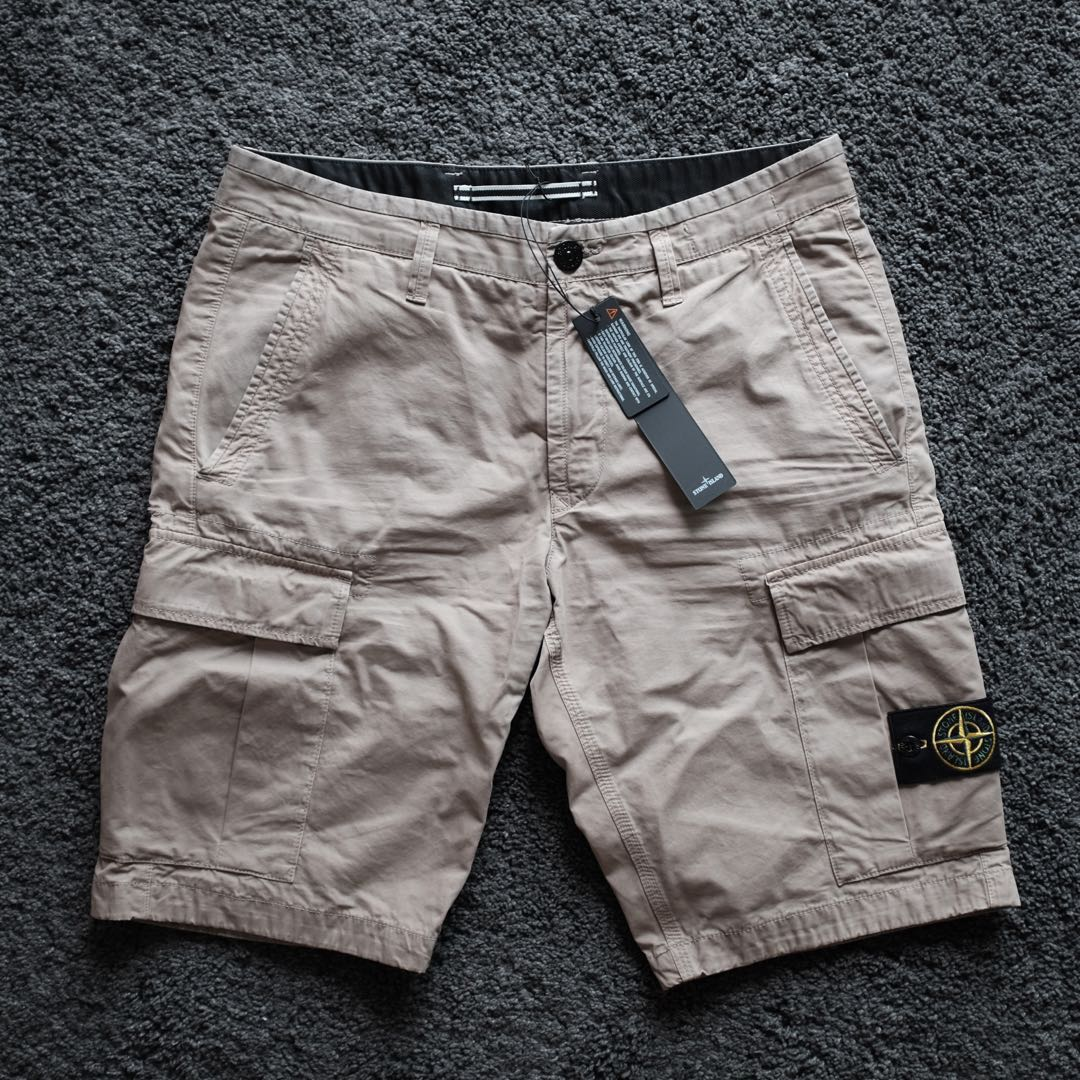 60ad3a3a3f Stone Island Garment Dyed Cargo Berms, Men's Fashion, Clothes ...
