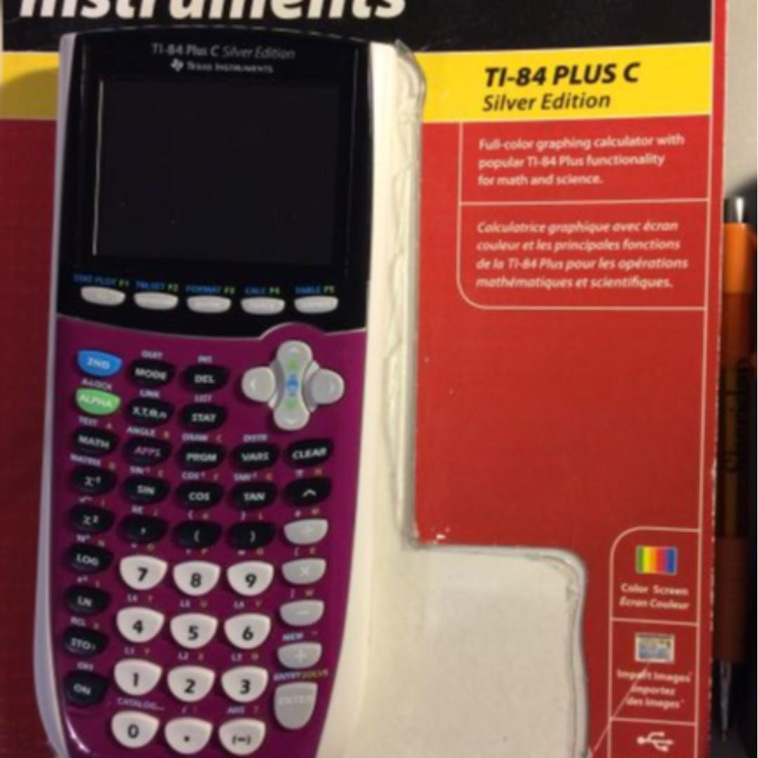 Texas Instruments TI 84 Plus C Silver Edition Colour Graphing Calculator