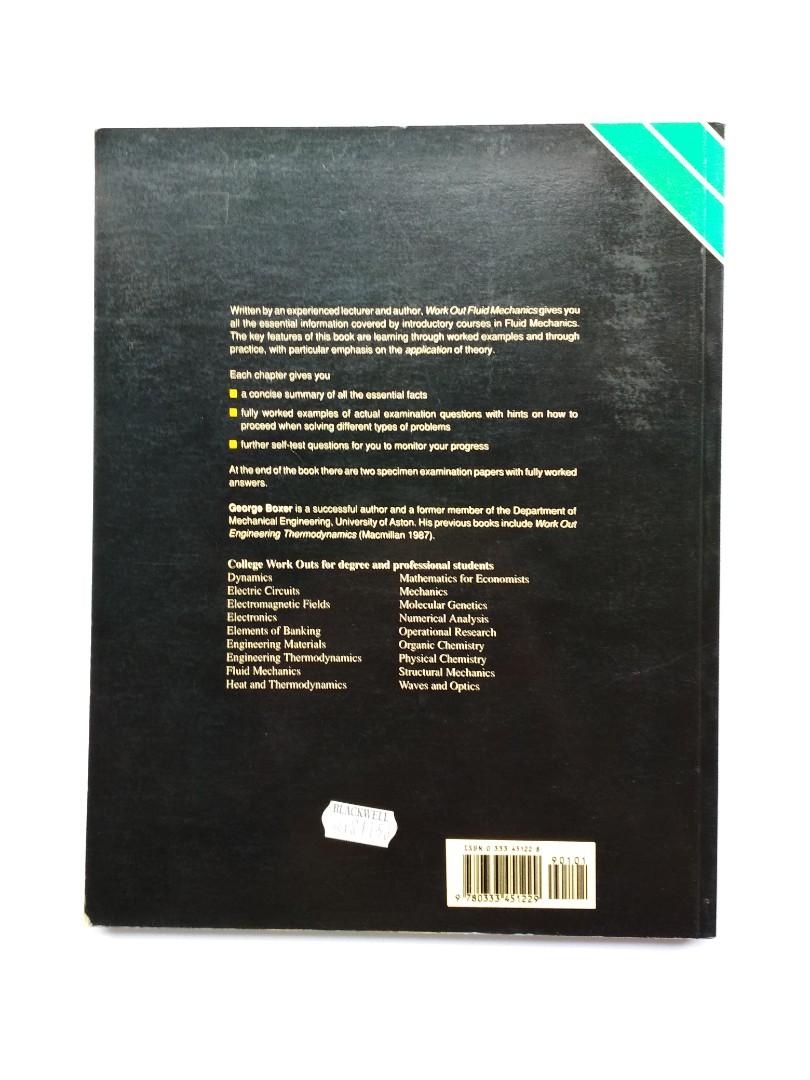 Textbook - Fluid Mechanics By G  Boxer