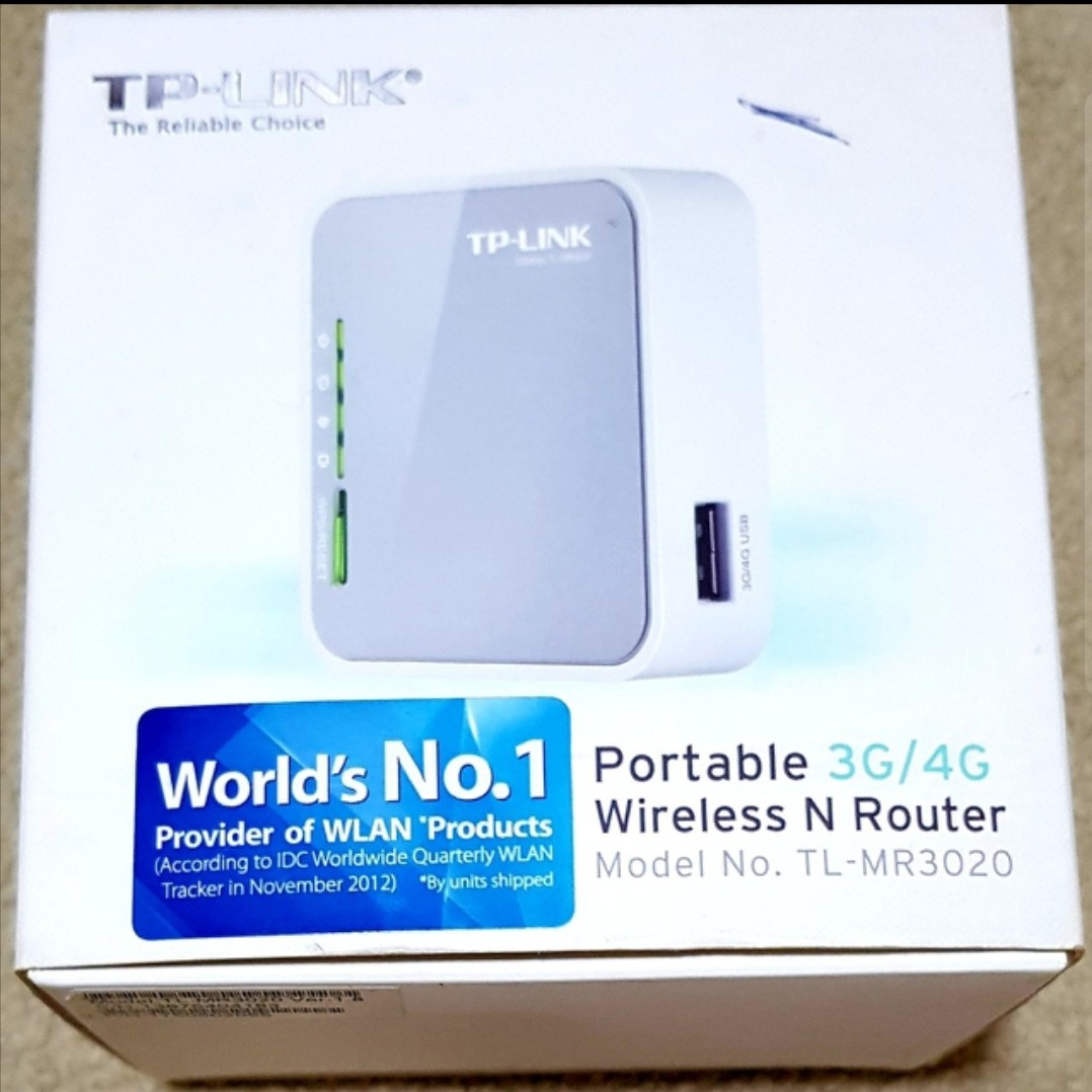 Tp Link Portable 3g 4g Wireless Router Electronics Others On Carousell Tl Mr3020 N