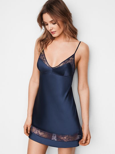 1b727e725a Victoria s Secret Very Sexy Satin and Lace Slip