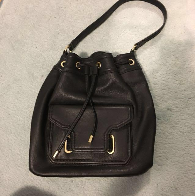Vince Camuto black leather bag