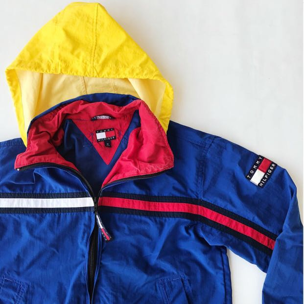 f40ca871 Vintage Tommy Hilfiger Windbreaker Jacket, Women's Fashion, Clothes,  Outerwear on Carousell