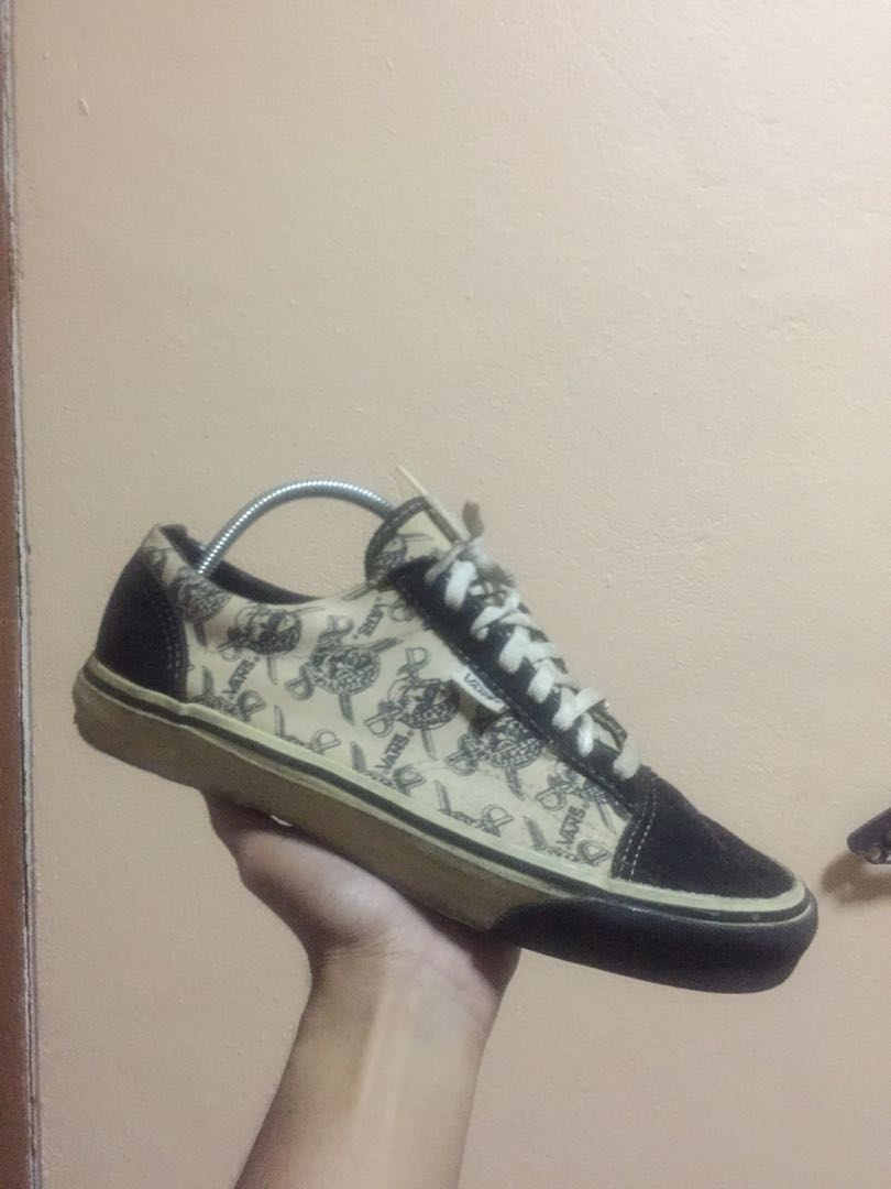 2150b9bf1e Vintage Vans shoes Old skool low PIRATE SKULLS Made in USA 80s Rare ...