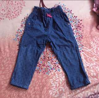 Girl's soft denim pants