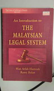 An Introduction to THE MALAYSIAN LEGAL SYSTEM by Wan Arfah Hamzah and Ramy Bulan