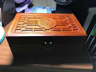 (清貨)緬甸花梨木盒
