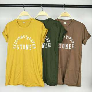 Scissors Paper Stone Tee 100% Cotton