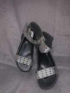 Editor's Market silver studs sandal