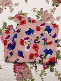 Printed Floral Wide Shawl