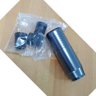 Classic Metal Grey with line series gear knob - 8.5cm