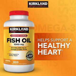 Kirkland Signature Fish Oil 1000mg 400 Softgels