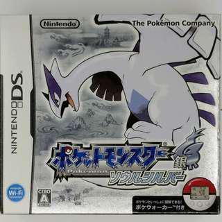 NDS Pokemon Soul Silver 日版 魂銀 SS 有盒有說明書 連 全新計步器