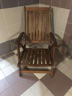 Antique folding solid Wooden resting Chair