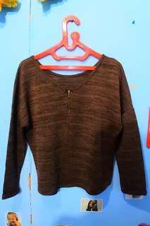 Sweater wanita coklat