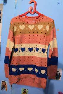 Sweater wanita pink
