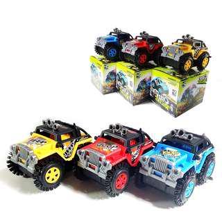 Electric Mini Stunt Dump Off road Tumbling Truck Police Car Climbing Jeep Car Children Toy
