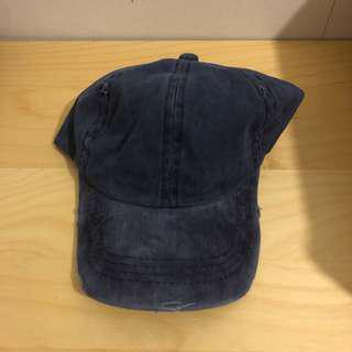Blue distressed hat
