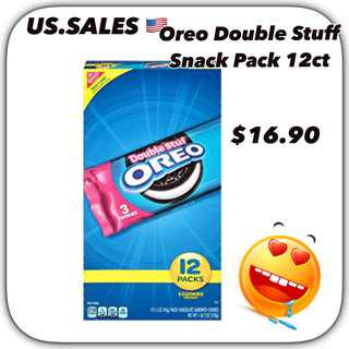 Oreo Double Stuff Snack Pack 12ct from 🇺🇸