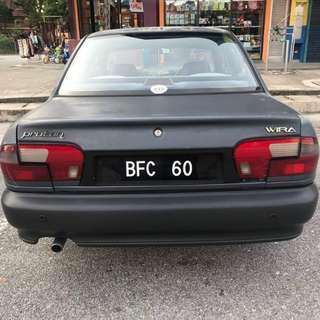 Proton Wira 1.5 auto vvip plate number