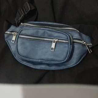 NEW WAISTBAG WAIST BAG FANNY PACK BLUE JEANS DOUBLE ZIPPER
