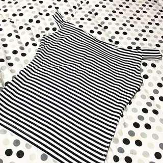 bershka stripes sabrina top