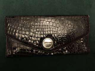 Oroton Large Patent Leather Croc Wallet
