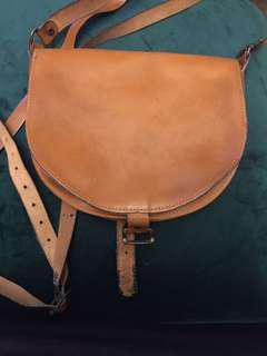 Vintage Tan Leather Bag
