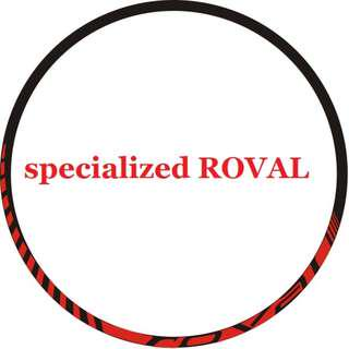 Rim Stickers specialized ROVAL (red)