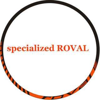 Rim Stickers specialized ROVAL (neon orange )